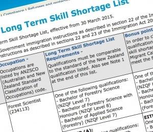 Списки востребованных профессий в Новой Зеландии